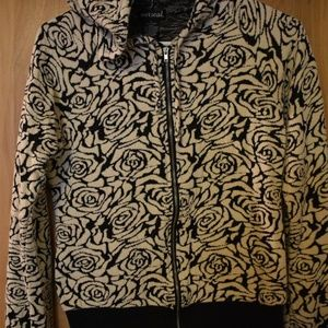 PRE OWNED Wet Seal Flower Full Zip Hoodie